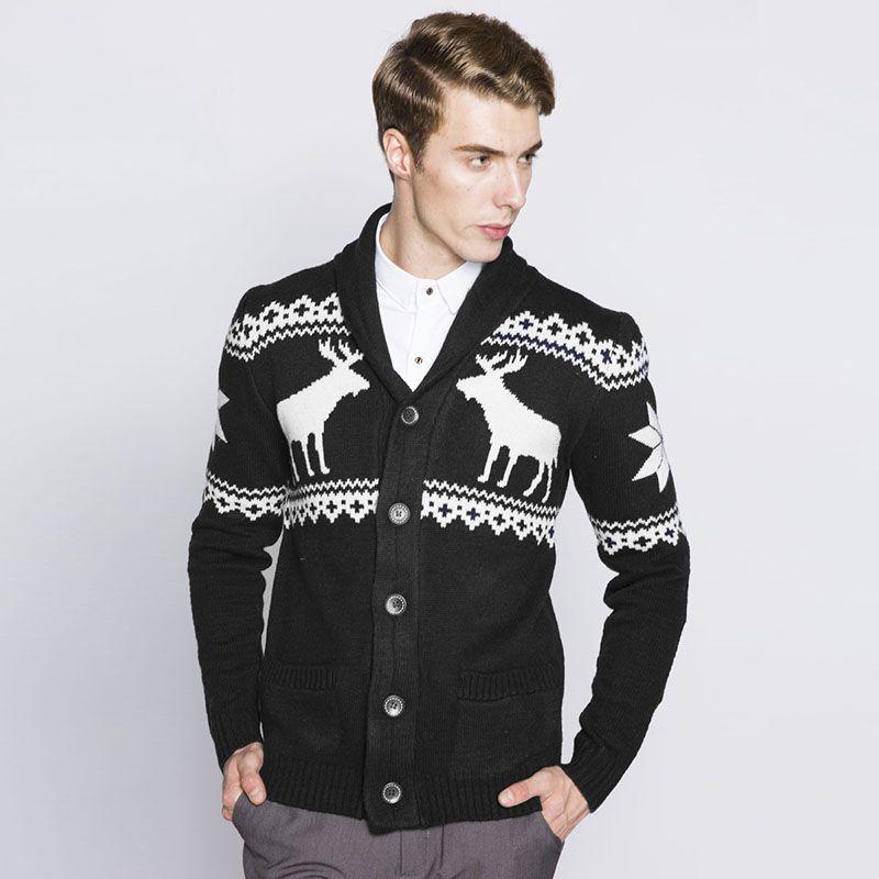 Online Cheap Mens Cardigans Autumn Winter Christmas Sweater Men ...