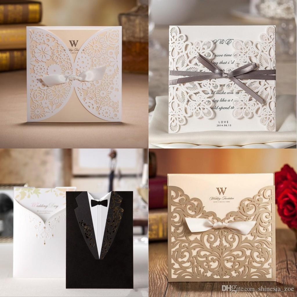 Wholesale Unique Wedding Invitations Cards Laser Cut
