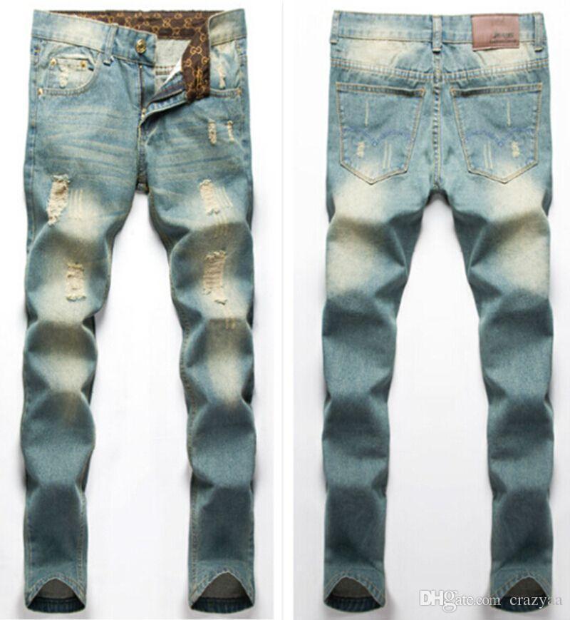 Bien connu Best Quality Mens Biker Jeans 2016 Fashion Korean Style Skinny  FG19