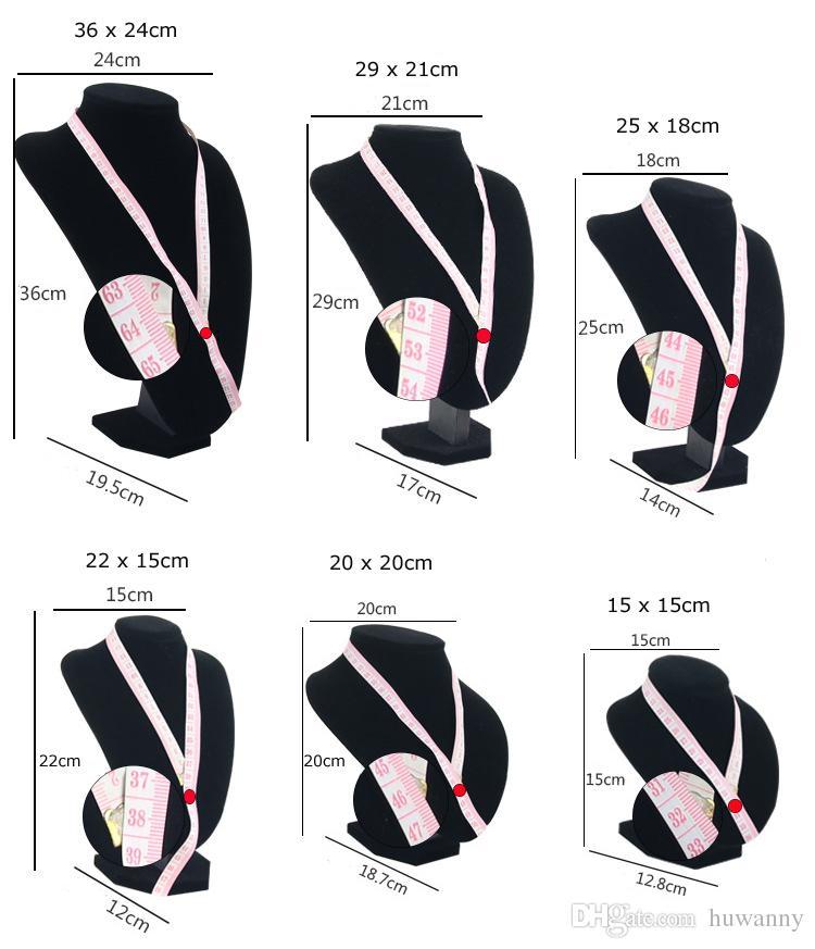 Mannequin-Halsketten-Präsentationsständer-hoher Grad-voller Samt-Schmucksache-Erscheinen-Speicher-Stand-freier Verschiffen-Großverkauf 0659WH