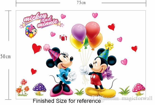 New Mickey And Minnie Mouse Removable Wall Art Decals Sticker Kids Room  Home Decor Nursery Mural Poster Removable Stickers For Walls Removable  Vinyl Wall ... Part 65