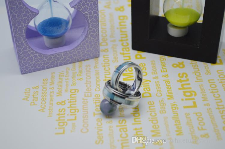 Nouveau Tungstène Bijoux Blue Shell Inlay Tungsten Anneaux de mariage 8mm Anneaux de mariage Hommes Wry-1159
