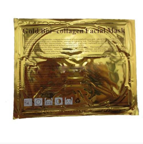 قسط الذهبي الكولاجين كريستال قناع الوجه مكافحة الشيخوخة تبييض ترطيب الوجه العناية بالبشرة سلاسة firmer الجلد MZ015