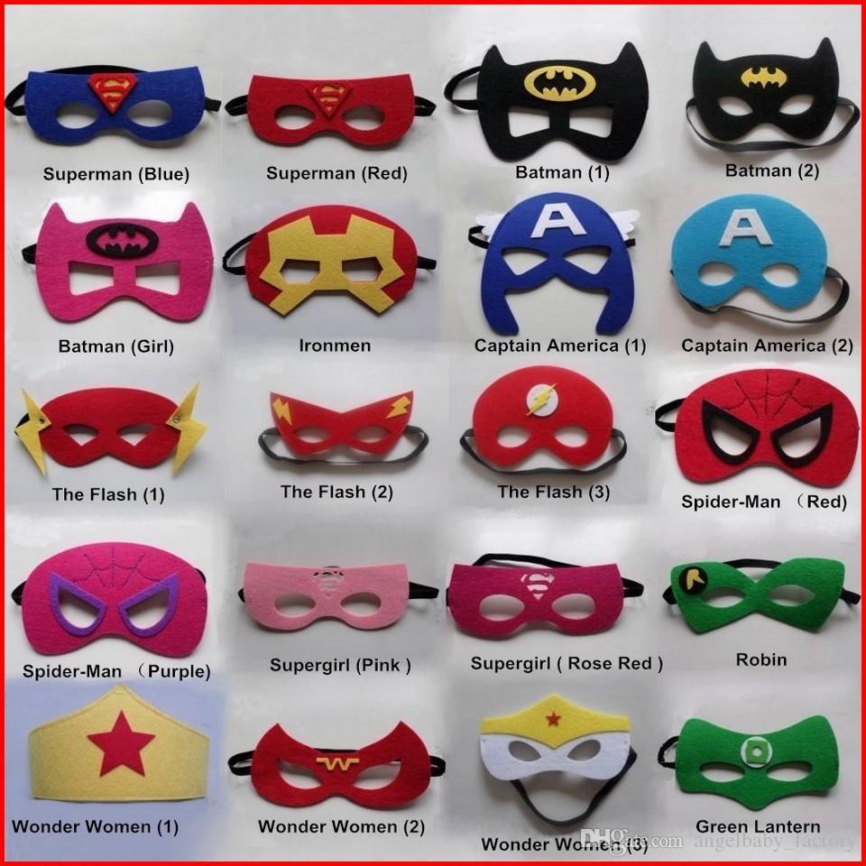 52 Designs New Super Hero Mask Kids Eyemask Children Cosplay ...