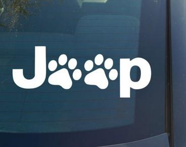 (100 pieces /lot) Wholesale Wrangler Cat Dog Paw Paws Print Feet Vinyl Car Decal Decals Sticker window for Jeep