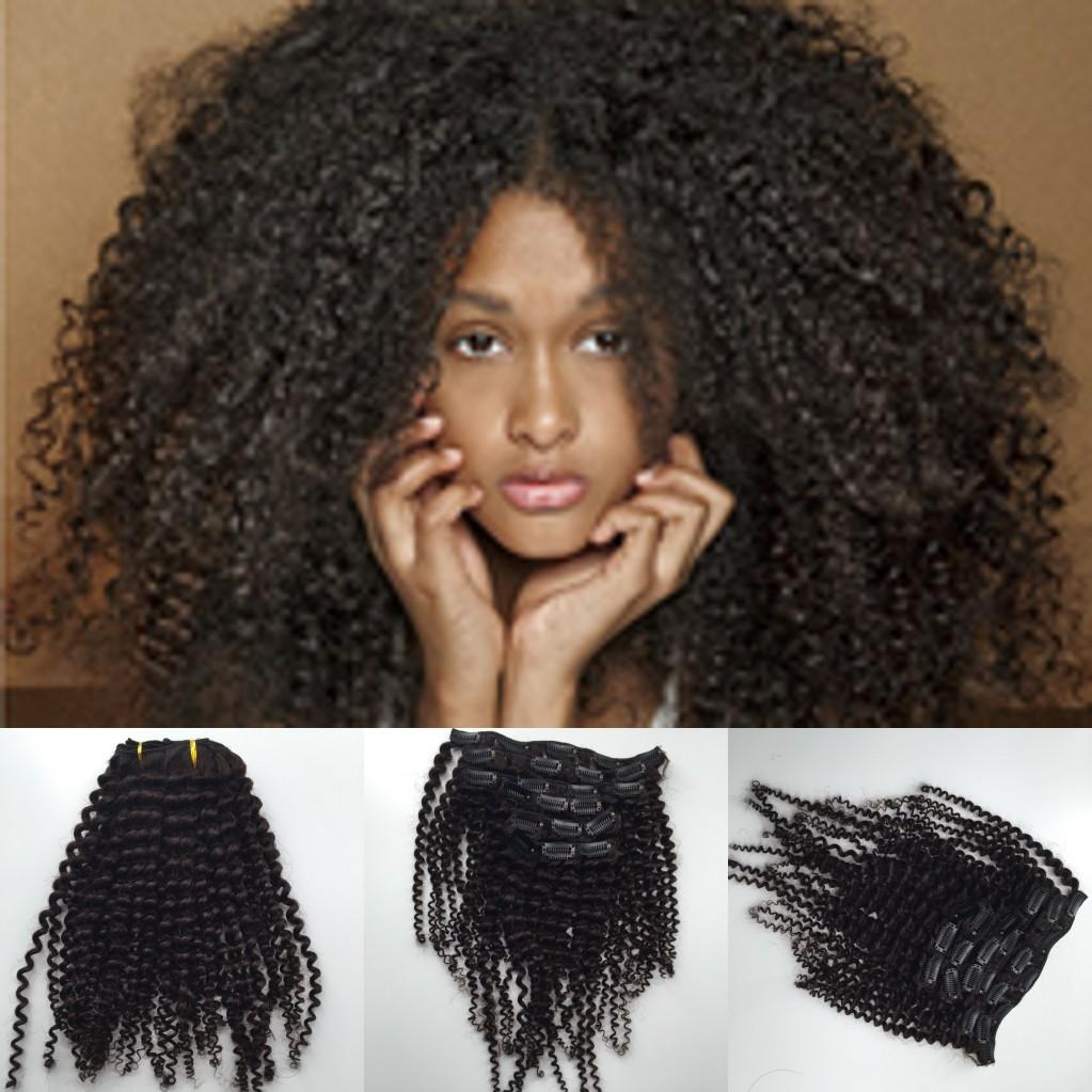 Kinky curly clip in hair extensions natural hair 4b 4c african kinky curly clip in hair extensions natural hair 4b 4c african american clip in human hair extensions 120g clip ins bleach blonde hair extensions dark pmusecretfo Gallery