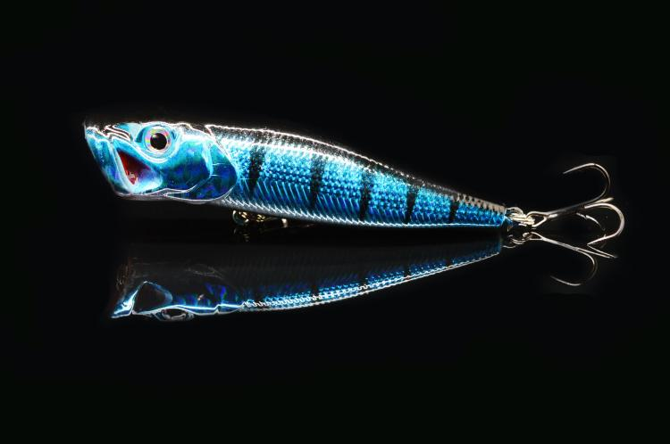 جديد توبواتر بوبر الطعم الثابت إغراء الصيد 9 سنتيمتر 12 جرام 5 ألوان pesca التريبل هوك الطعم abs البلاستيك البحر الطعم