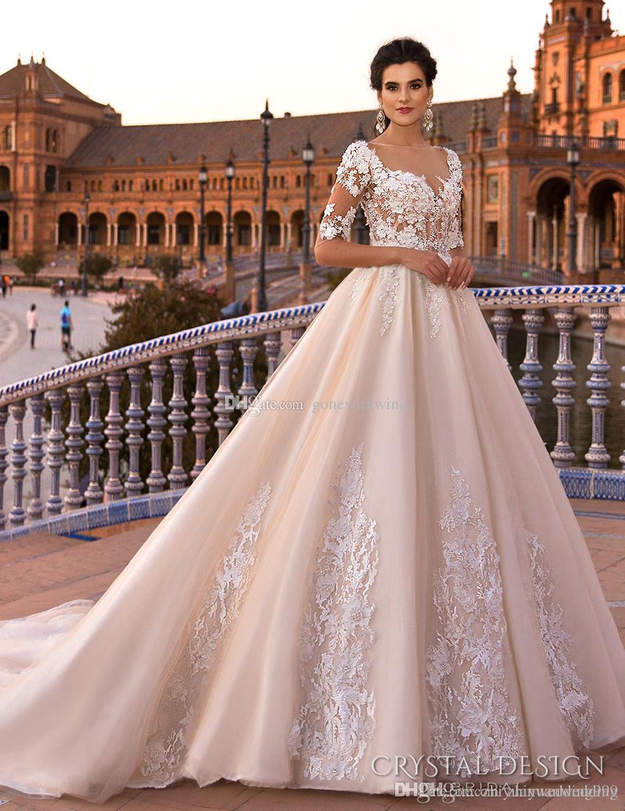 Blush royal train princess ball gown a line wedding for Blush wedding dress for sale