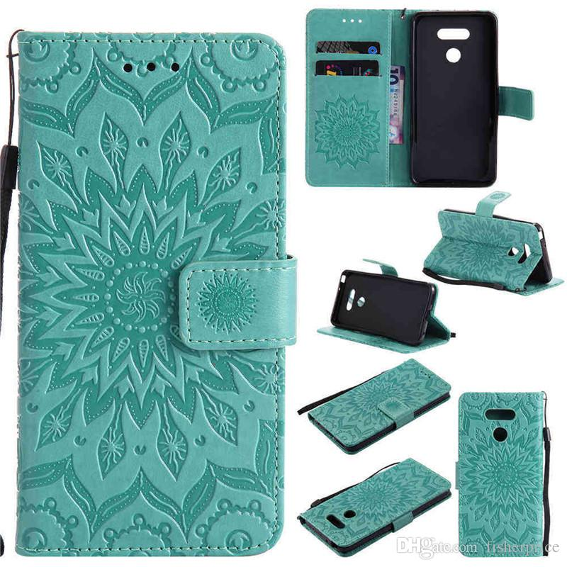 3D Sun Flower Patterned Flip Leather Wallet Card Holder Stand Phone Case Cover For LG G3 G4 G5 G6 LS775
