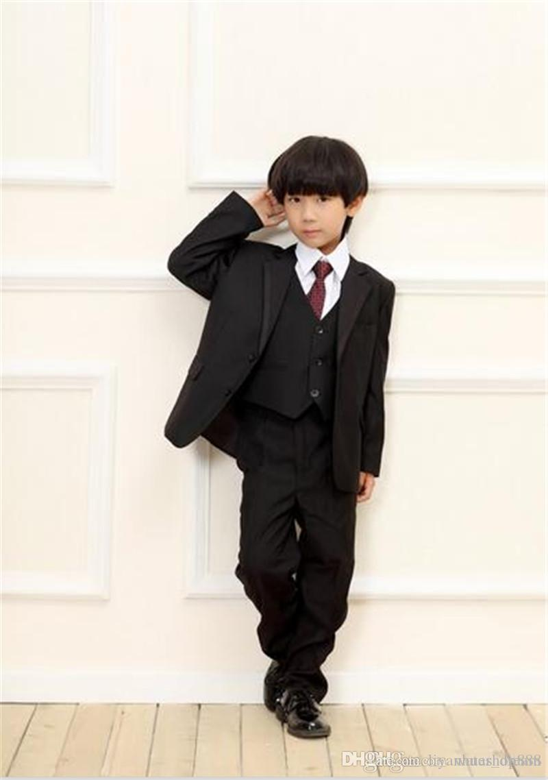 Fashion Boys suits Formal Wear Wedding Boys suit 2015 Wedding party dress for Boys Formal Children suits jacket+pants+vest
