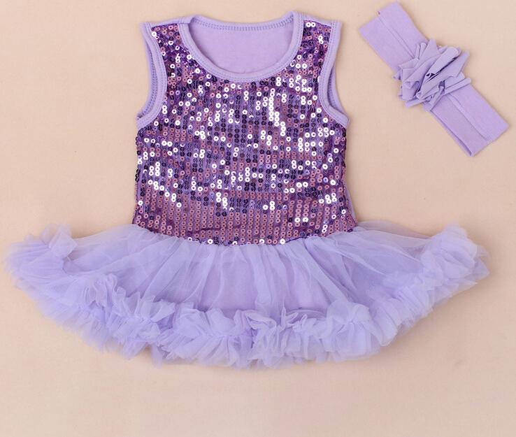 fb9e08652b93 2019 Fashion Baby One Piece Romper Jumpsuit Newborn Baby Girls Sequins Tutu Dress  Romper 4 P L From Choicegoods521
