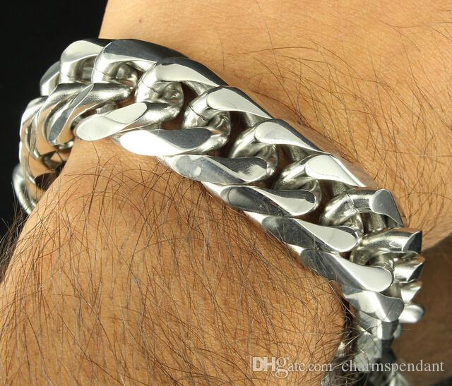 24 '' + 9 '' 316L acciaio inossidabile Jewlery Set alta lucidato 12mm larga catena cubana Curb braccialetto gli uomini di moda Xmas Bling regali