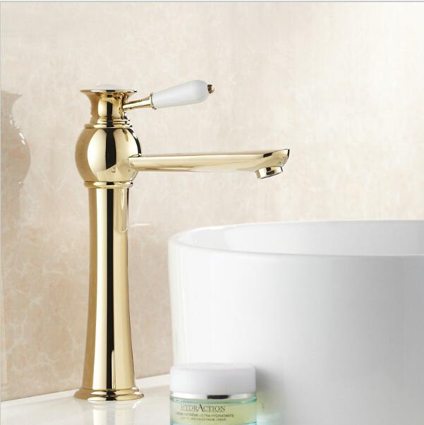 solid brass bathroom faucets. Discount Solid Brass Gold Plated Basin Faucet Bathroom Single Hole Sink Mixer Torneira Para Banheiro G1025 From China | Dhgate. Faucets W