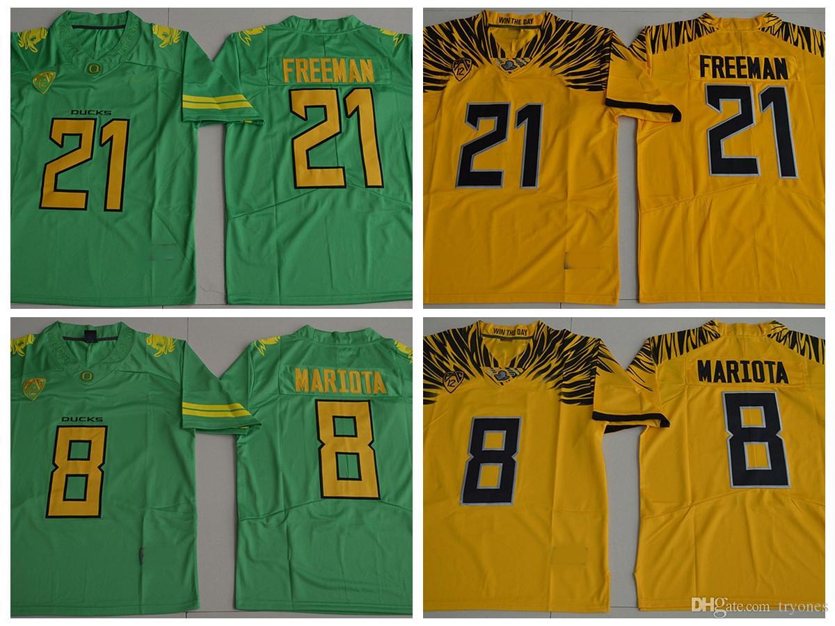 the latest 1d68f c1e03 2017 New Oregon Ducks College Football Jerseys 21 Royce Freeman 8 Marcus  Mariota Stitched Jerseys Football Shirts