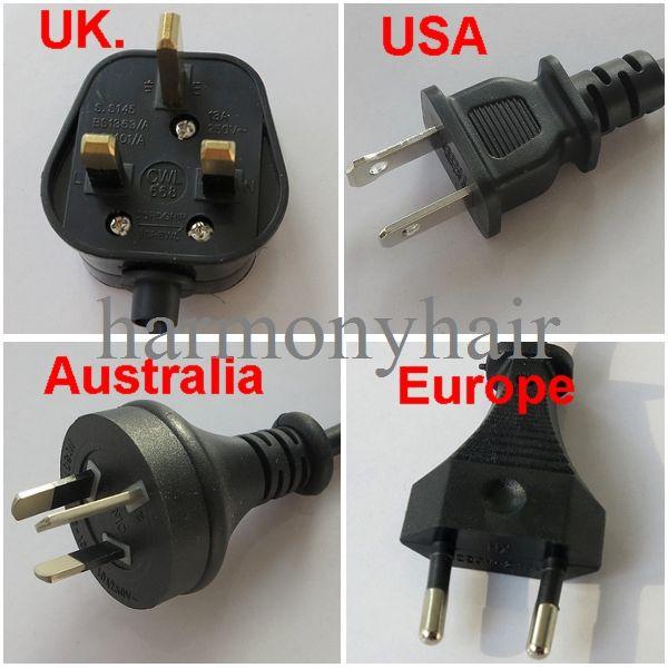 New Style Flat plate Fusion Hair Extension Keratin Bonding Tool Heat/connector, Plug standard Europe, Australia,UK, USA.