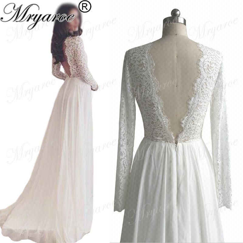 Großhandel Classy Lace Long Sleeve Rustikale Brautkleider Exquisite ...