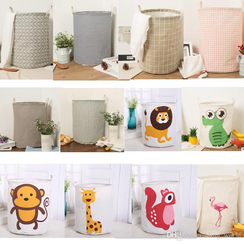 Christmas Storage Baskets INS Bins Kids Room Toys Storage Bags INS Storage  Basket Bucket Clothing Organizer Laundry Bag Linen Cartoon SF187 Kids INS  Storage ...