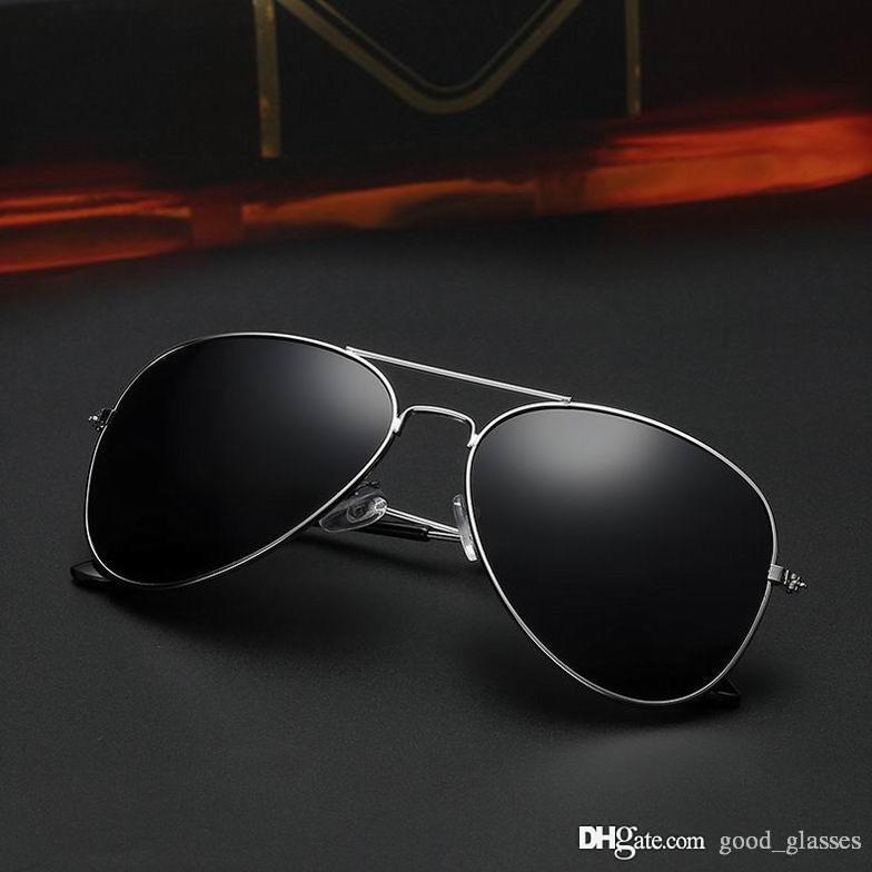 1133302c4dff New Best Pilot Sunglasses Men Women 58mm Vintage UV400 Classic P Brand  Designer Mirrored Glass Driving Black Sun Glasses With Case Sunglasses Case  ...