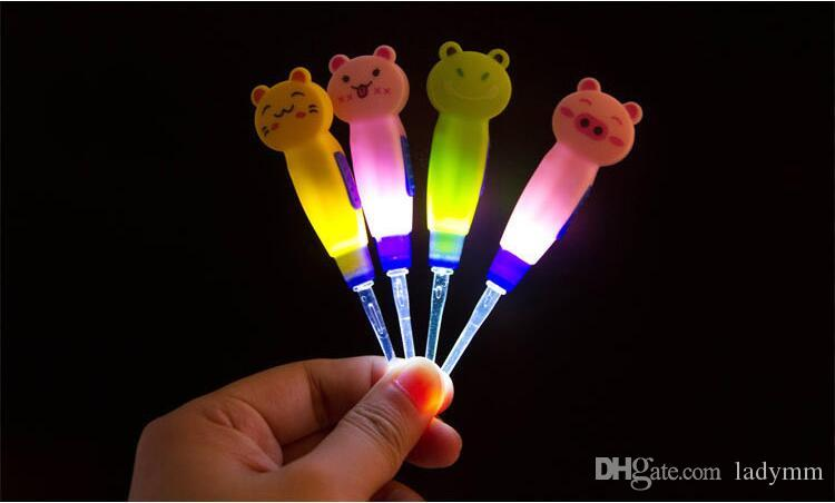 DHL New Cartoon style Light LED Dig Flash Light Ear 3x Ear-pick Wax Remover Pick Earpick Clean Ears ear cleaning tools