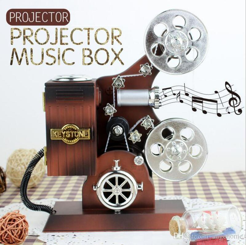Creative Projector Music Box Vintage Jewelry Box Large Musical Boxes