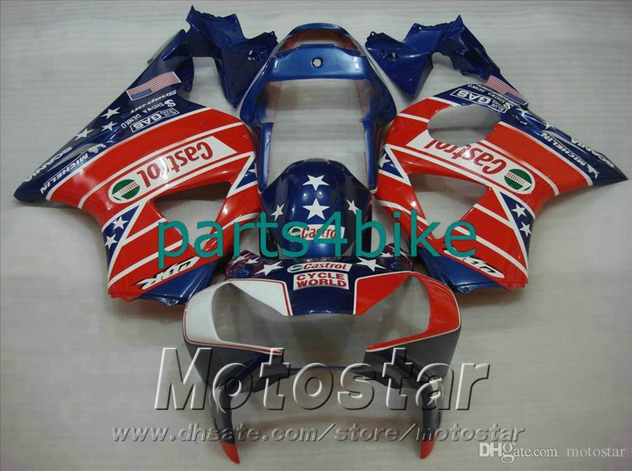 Injection molding fairing kit for Honda CBR900 RR 954 02 03 CBR 954RR bodywork CBR900RR 2002 2003 red blue fairings set HS8