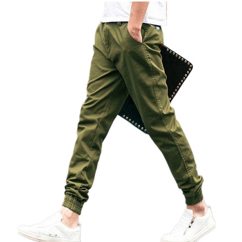 fb0768a96621 2019 2016 Full Length Mens Joggers Pants Casual Sport Green Sweatpants Men  Skinny Track Training Jogging Trousers Sweat Pants From A5050