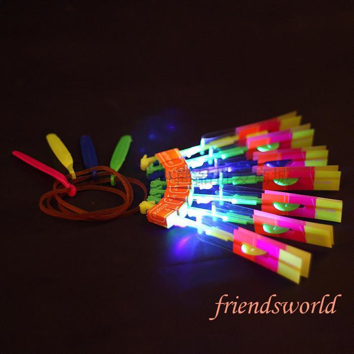 LED Amazing Flying Arrows Helicopter Umbrella Light Parachute Kids Toys LED Flying Toys DHL Fedex