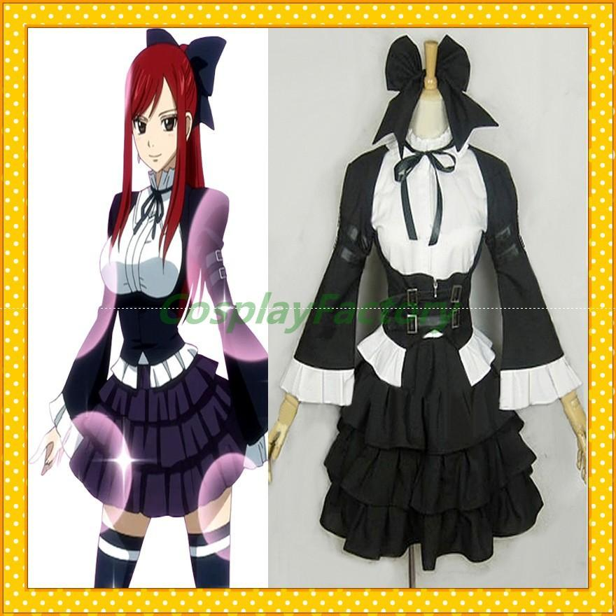 Fast Custom Made Fairy Tail Ft Anime Cosplay Erza Carnival Halloween Con Party Maid Dress Costume Clothing Adult Costumes Sexy