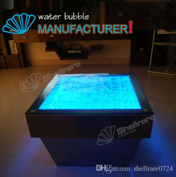 Nice Changing Color Led Light Coffee Table With Water Bubble