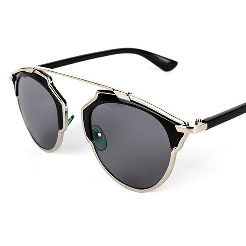 2015 Pop Vintage Metal Frame Sunglasses Women Brand New Designer Cat ...