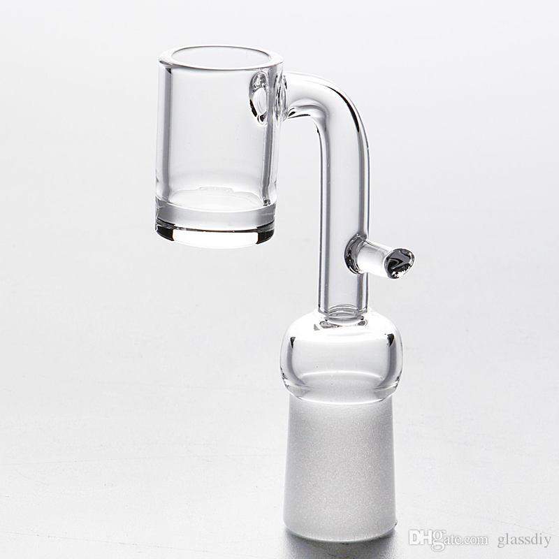100 Real Quartz Banger Graile Nail with handle 4mm Thick Bottom 2mm Thick Domeless Honey Bucket 10mm 14mm 18mm Male Female Joint