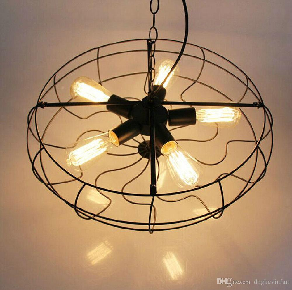Wholesale High Quality American Retro Ceiling Fans Simple: Loft Fan Retro Pendant Lights North American Style Vintage