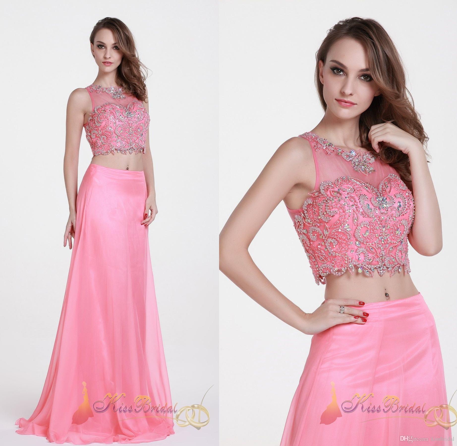Bonito Vestidos De Fiesta De Color Rosa Sirena Colección de Imágenes ...