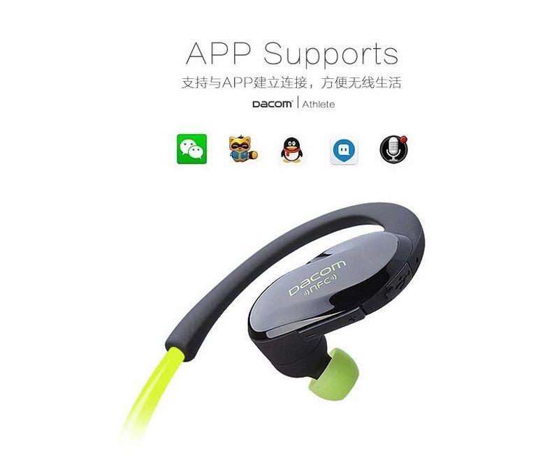 2016 Nova Dacom Atleta Sem Fio Bluetooth Headset Esporte Handsfree Fones De Ouvido Estéreo Música Ear Hook Fones De Ouvido Fone De Ouvido com Microfone NFC