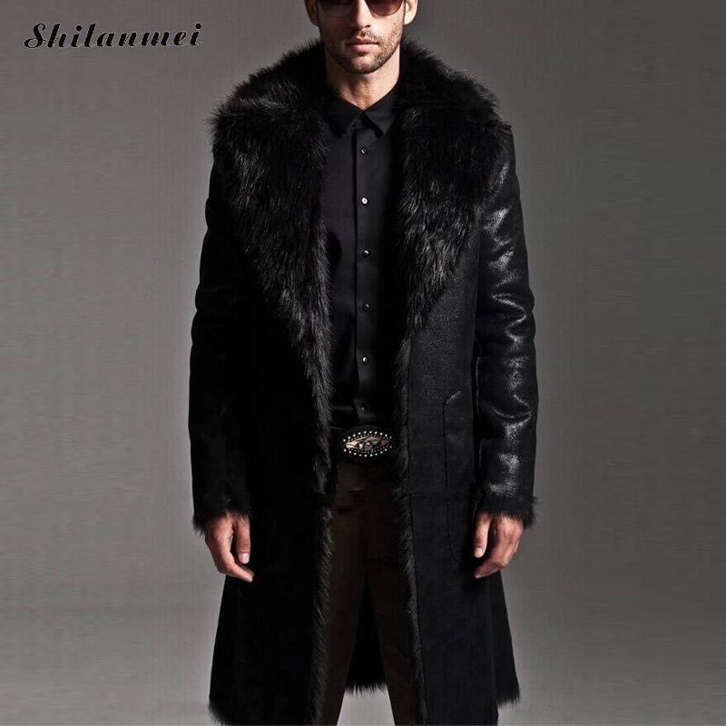 7fac5069fae9c 2019 Wholesale Fashion Men Winter Fur Leather Jacket Long Coats Both Sides  Snow Wear Waterproof Reversible Men Overcoat Male Plus Size 7XL 6xl From ...