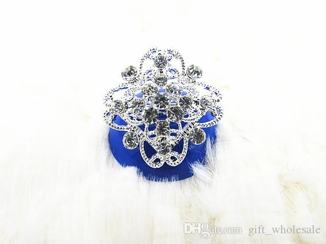 European Silver Plated Alloy Rhinestone Crown Collar Flowers Pin Brooch 10 styles for choices