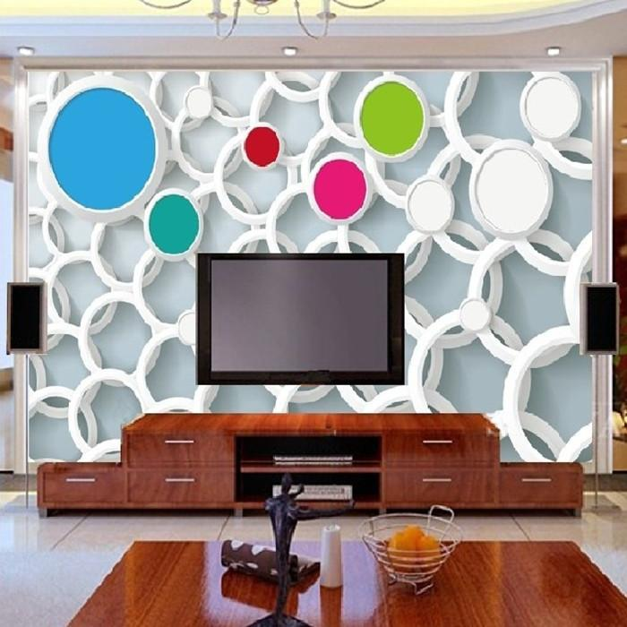 Art Customized Modern Fashion Office Living Room Bedroom Circle 3d ...