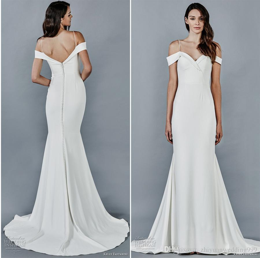 Simple Clean Fit And Flare Wedding Dresses 2018 Kelly Faetanini