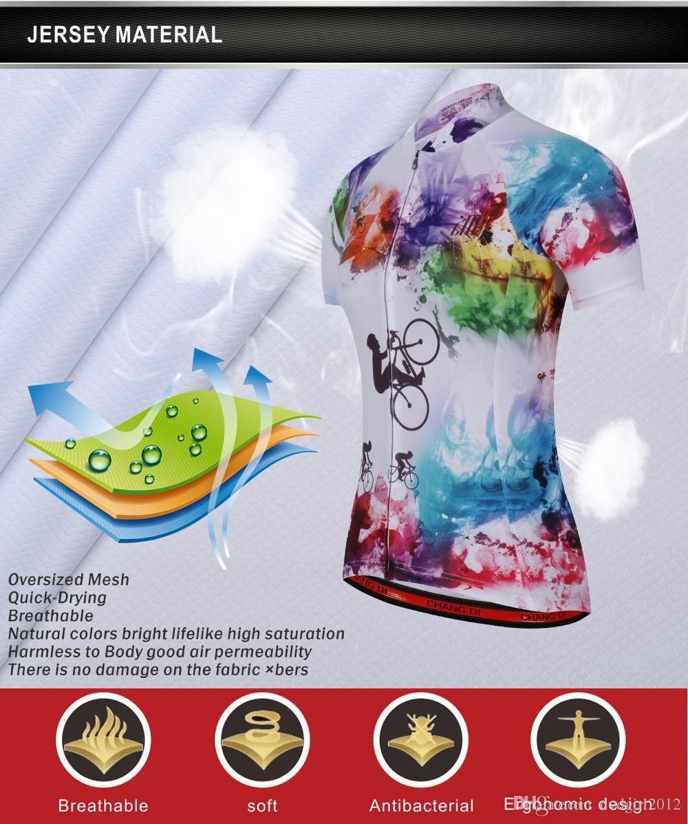 Z M Alta calidad Nuevo color de las mujeres Ciclismo Jersey Bicicleta Bicicleta Cómodas camisas para mujer al aire libre