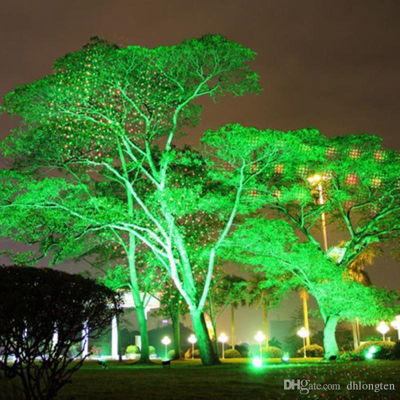 Impermeable al aire libre Laser Firefly Etapa Luces Paisaje Rojo Verde Proyector Navidad Jardín Sky Star Lawn Lamps Decoraciones Envío gratis