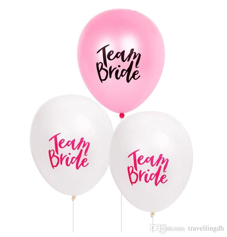 squadra sposa alfabeto lettera palloncini palloncini matrimonio in lattice decorazione di nozze palloncino festa nuziale doccia favori