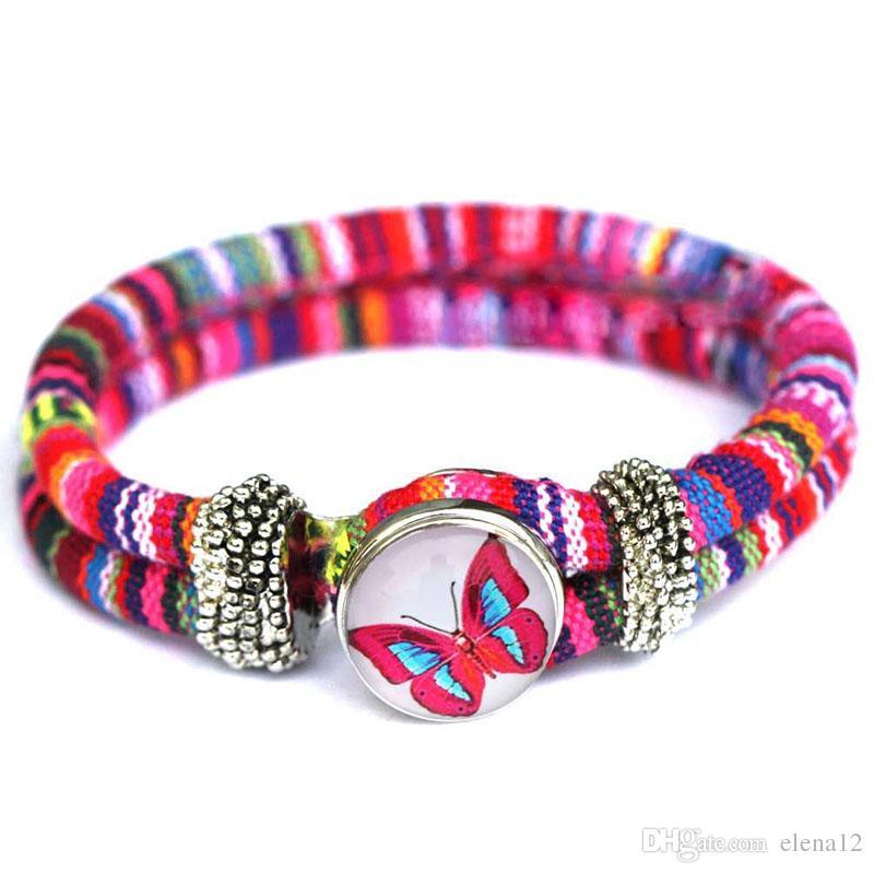 Nuevas pulseras del encanto nacional Noosa Trendy Pulsera de botón a presión Pulsera mejor regalo noosa pulsera joyería DIY 160382
