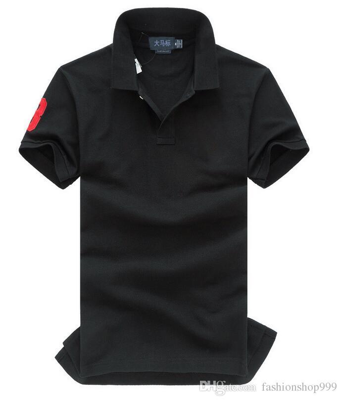 2017 nuova vendita calda di estate di alta qualità polo t-shirt usa bandiera americana marca polo uomini manica corta polo di sport uomo cappotto goccia spedizione gratuita