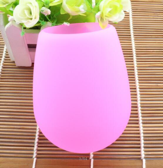 Nouveau Arrivent Coloré Mode 2017 Incassable clair Caoutchouc Vin Verre silicone silicone vin coupe verres à vin