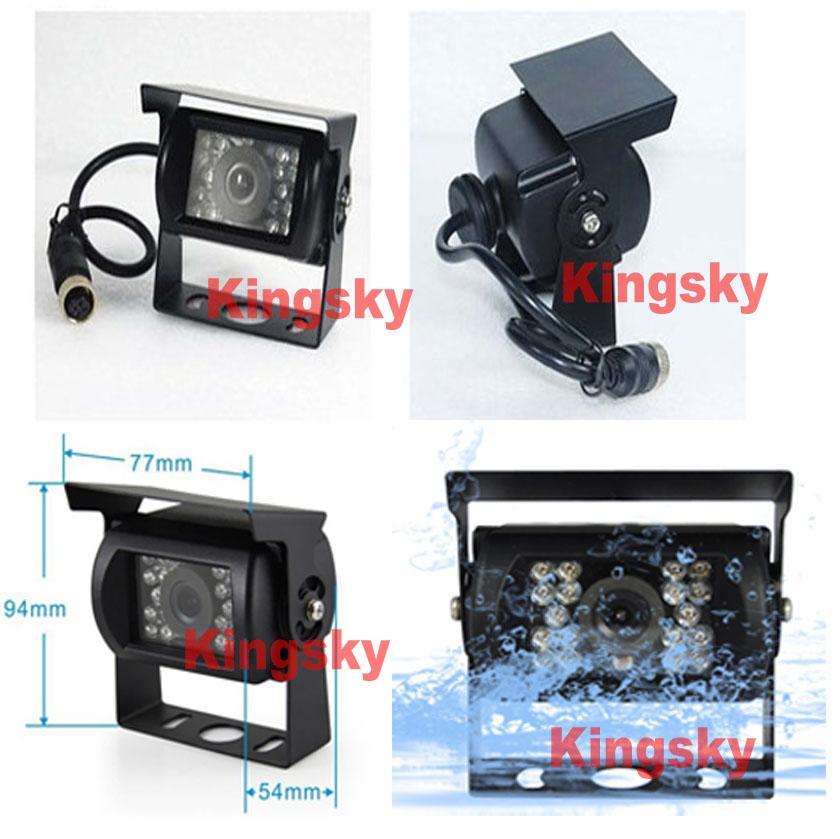 2 x 24 V Wodoodporna CCD Reverse Parking Camera 4PIN + 7