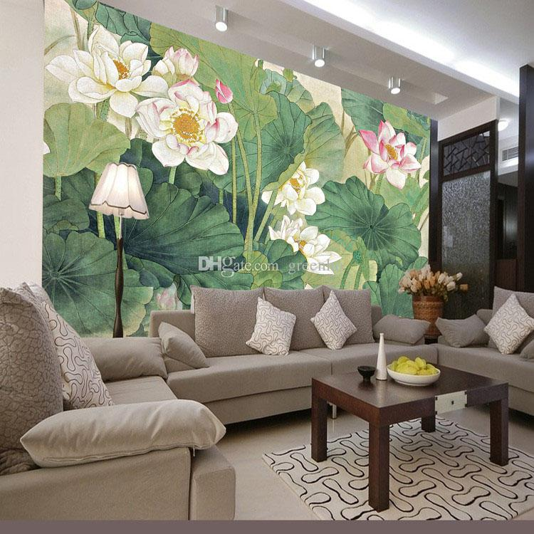 Elegant Lotus painting Photo Wallpaper 3D FLowers wallpaper Chinese style Wall Mural Bedroom Study Kid Living room decor Art Home Decoration