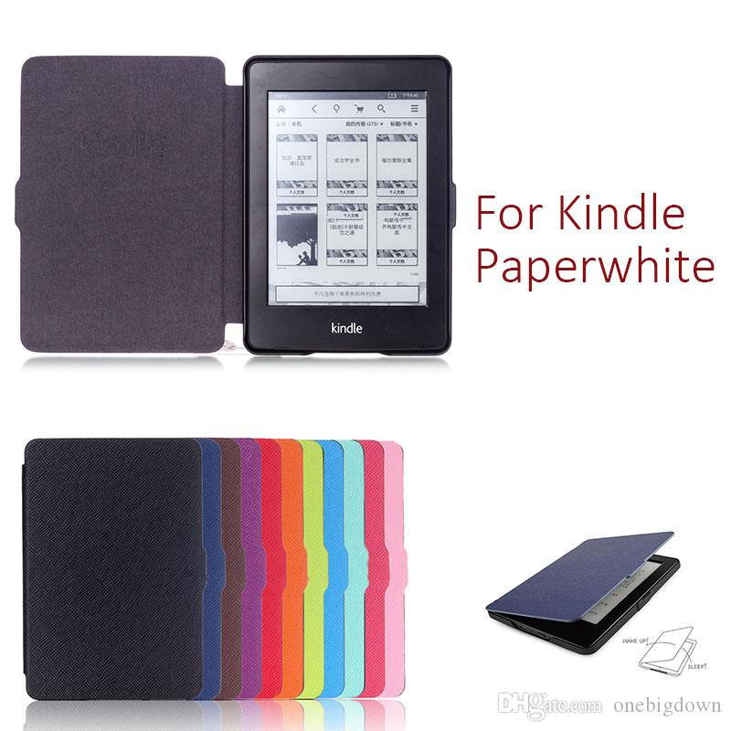 11 Color PU Leather Case For Kindle Paperwhite 123 Pouch Cover 6 inch  Ultra-slim Smart Flip Cover For Fashion Luxury Colorful