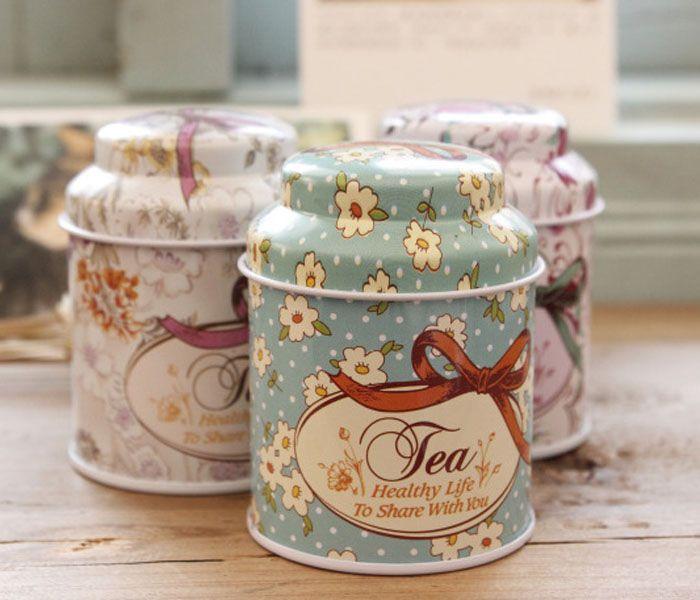 2016 novo estilo Vintage flor série caixa de chá, caixa de lata de corte, caixa de armazenamento, organizador, caso de ferro, recipiente de armazenamento
