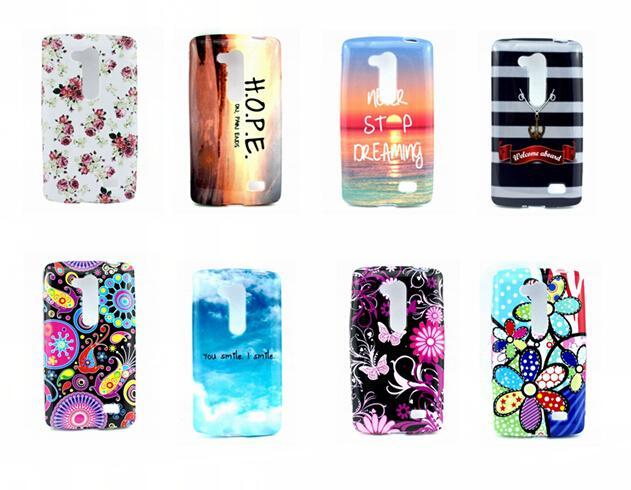 Flower TPU Case For LG G2 Lite D295 Owl UK USA Flag Soft Cover