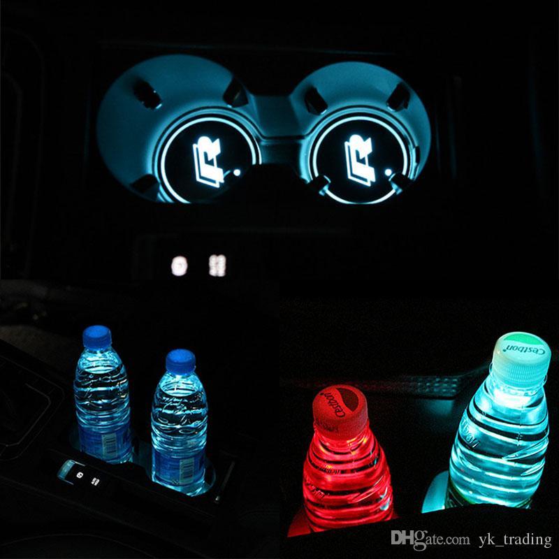 / set Coaster Auto LED multicolore R Cup Volkswagen VW Golf GTI Scirocco passat B6 Touran Tiguan Jetta MK4 MK5 MK6 POLO CC